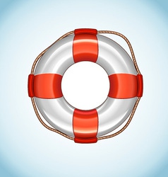 White Life Buoy Icon vector image