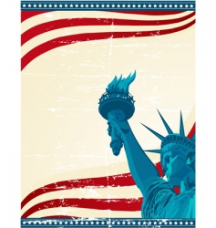 america poster template vector image vector image