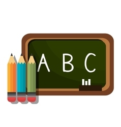 board alphabet pencil chalk graphic isolated vector image