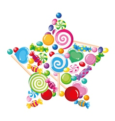 candy star white vector image vector image