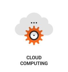 cloud computing icon vector image