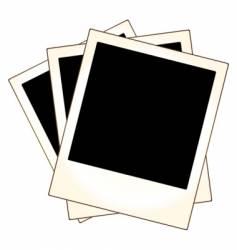 Polaroid photo frames vector