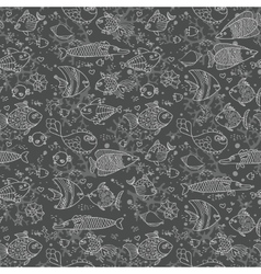 Background of underwater world Seamless pattern vector image