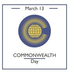 Commonwealtth Day vector image vector image