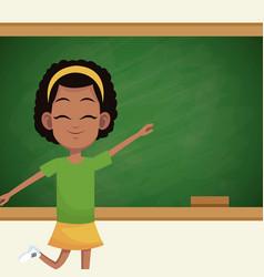 girl student chalkboard classroom vector image vector image