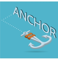 isometric flat of anchor vector image