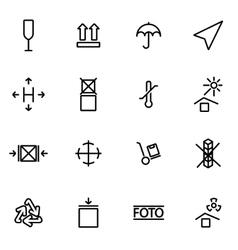 line marking of cargo icon set vector image vector image