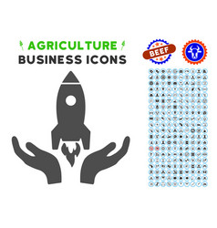 startup icon with agriculture set vector image vector image