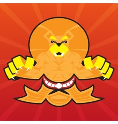 Team Logo Battle Claws Lion Symbol Sport Mascot vector image