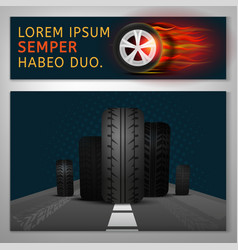 tyre banners image vector image