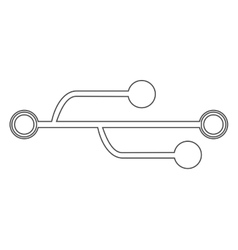 Usb connection symbol vector image