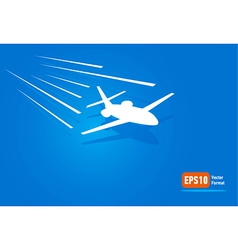 airplane flight air fly sky blue takeoff vector image vector image