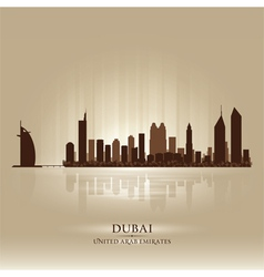 Dubai United Arab Emirates skyline city silhouette vector image