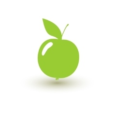 Green apple on a white background vector image vector image