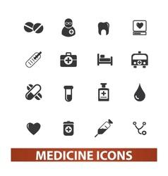 medicine health icons set vector image vector image