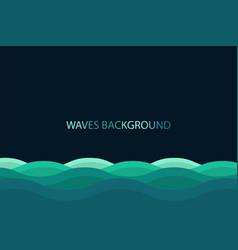 water wave background blue color background vector image