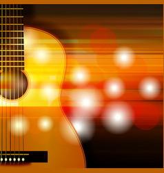 abstract background with acoustic guitar vector image