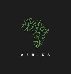 Africa map logo design template vector