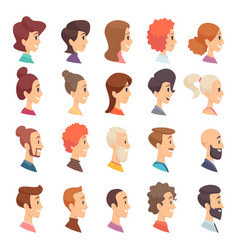 avatars profile persons male and female different vector image