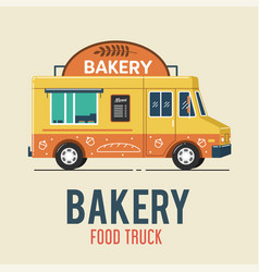 bakery food truck vector image
