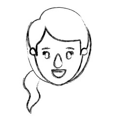 blurred silhouette caricature front view face vector image