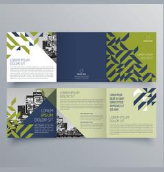 brochure design 809 vector image