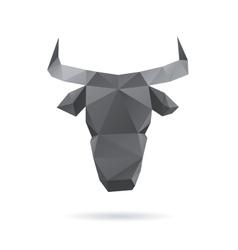 Bull head abstract isolated vector