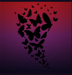 butterflies gradient background vector image