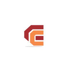 c initial company logo vector image