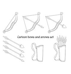 Cartoon bows and arrows vector