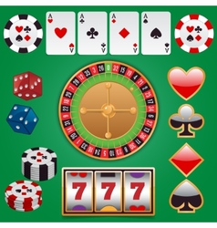 Casino design elements vector image