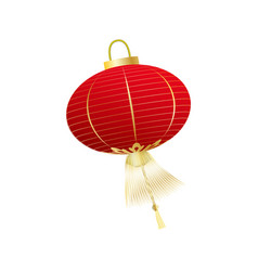 chinese red lantern isolated on white vector image