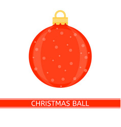 christmas decoration ball isolated vector image