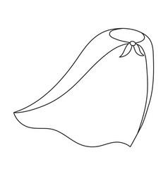 Cloak single icon in outline stylecloak vector