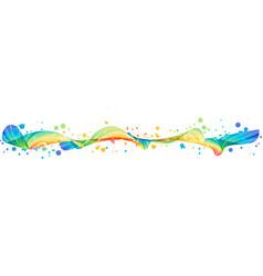 Colorful splash horizontal design vector