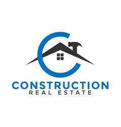 Construction home logo icon design template vector