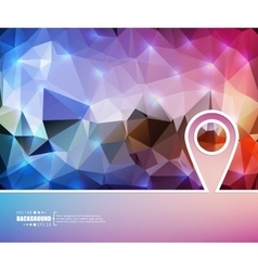 Creative pointer Art template vector image