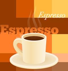Cup espresso vector