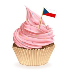 Czech cupcake vector