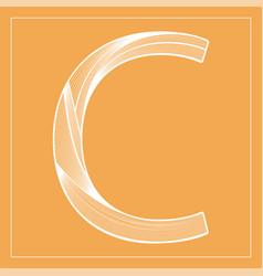 Decorative font stylized letter c vector