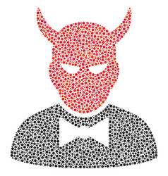 devil composition of small circles vector image