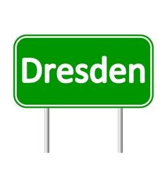 Dresden road sign vector