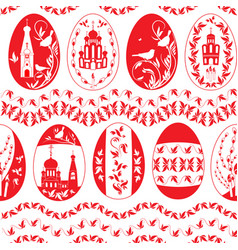 easter eggs and ornaments vector image