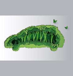Eco car concept vector