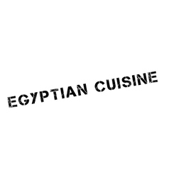 Egyptian Cuisine rubber stamp vector