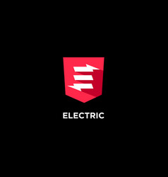 Electric flat icon vector