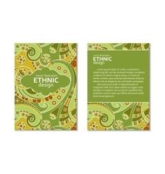 Ethnic business flyer vector