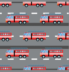 Fire truck car seamless vector