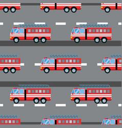 fire truck car seamless vector image