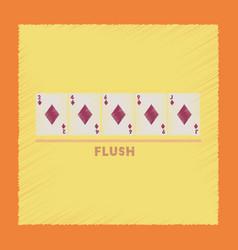 Flat shading style icon flush vector